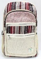 """Backpack, Natureal Hemp with Colored Cotton, 10.5"""" x 16"""", Priced Each"""