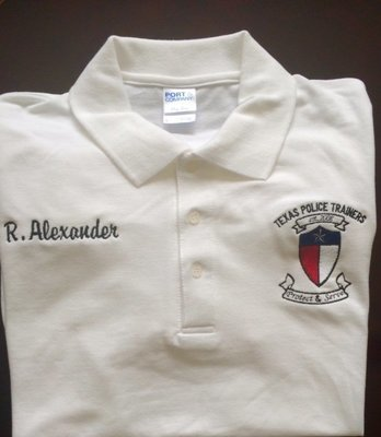 Texas Police Trainers Custom Embroidered Polo Shirt- Size 2X and above