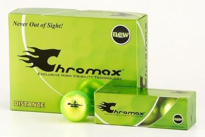 Green Neon Golf Balls - Chromax Distance 12 Box