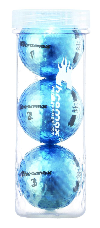 Chromax® Colored Blue Golf Balls - Metallic M5 3 Ball Tube