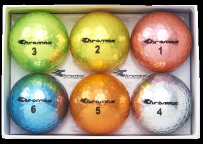 Chromax® Colored Mixed Golf Balls - Metallic M5 6 Ball Pack