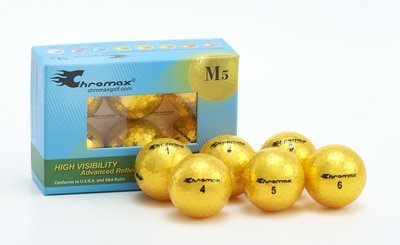 Chromax® Colored Gold Golf Balls - Metallic M5 6 Ball Pack