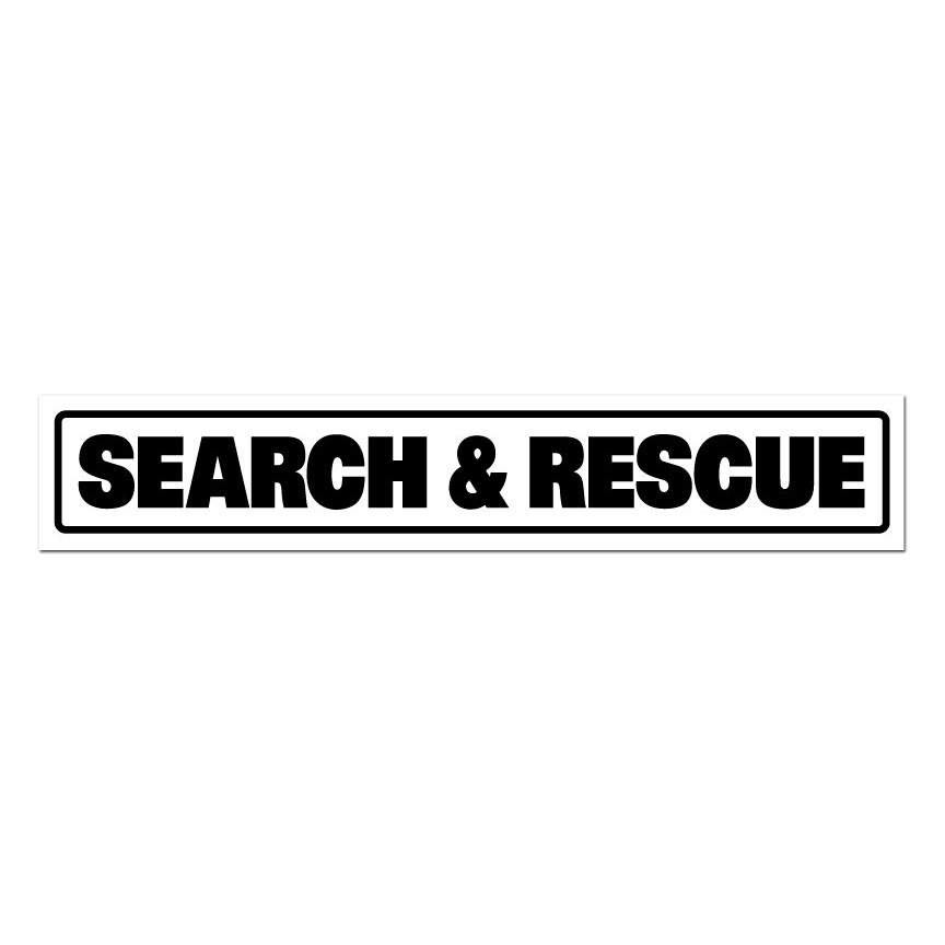 """Magnetic Vehicle Sign (Reflective): SEARCH & RESCUE 14"""" x 2-1/2"""""""