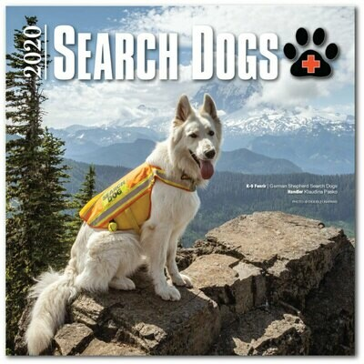 2020 SEARCH DOGS Wall Calendar