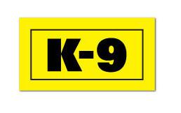 Reflective Patch: K-9 Label