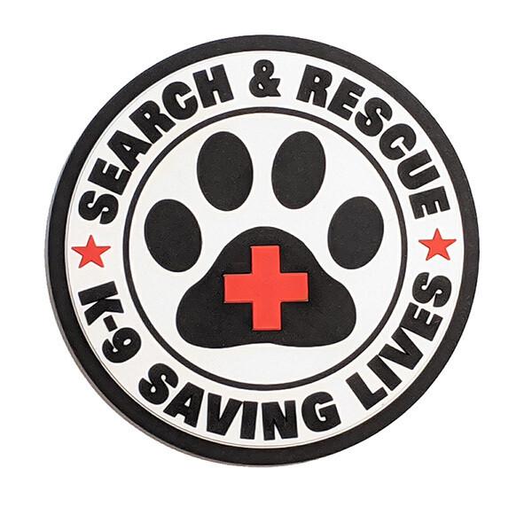 PVC Patch: SAR K-9 Saving Lives