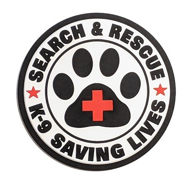 PVC Patch: SAR K-9 Saving Lives