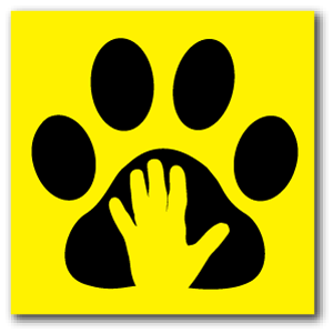Reflective Patch: Paw Hand