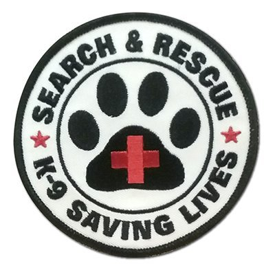 Embroidered Patch: SAR K-9 Saving Lives