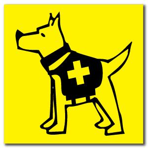 Reflective Magnet: SAR Dog Logo