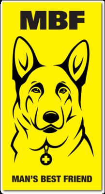 Reflective Magnet: MBF German Shepherd