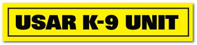 Reflective Patch: USAR K-9 UNIT Name Strip
