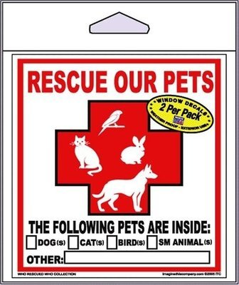 Window Decal: Rescue Our Pets
