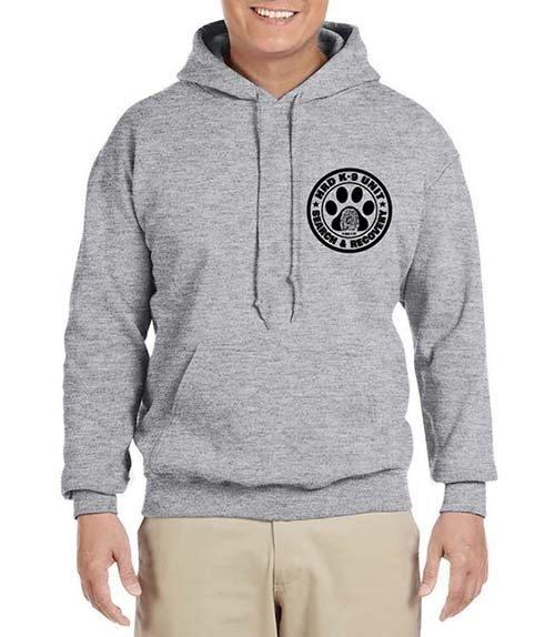 Hooded Sweatshirt: HRD K-9 UNIT