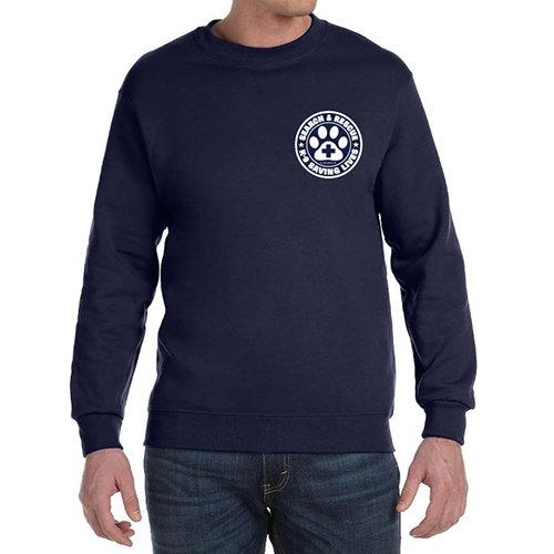 Crewneck Sweatshirt: SAR K-9 Saving Lives