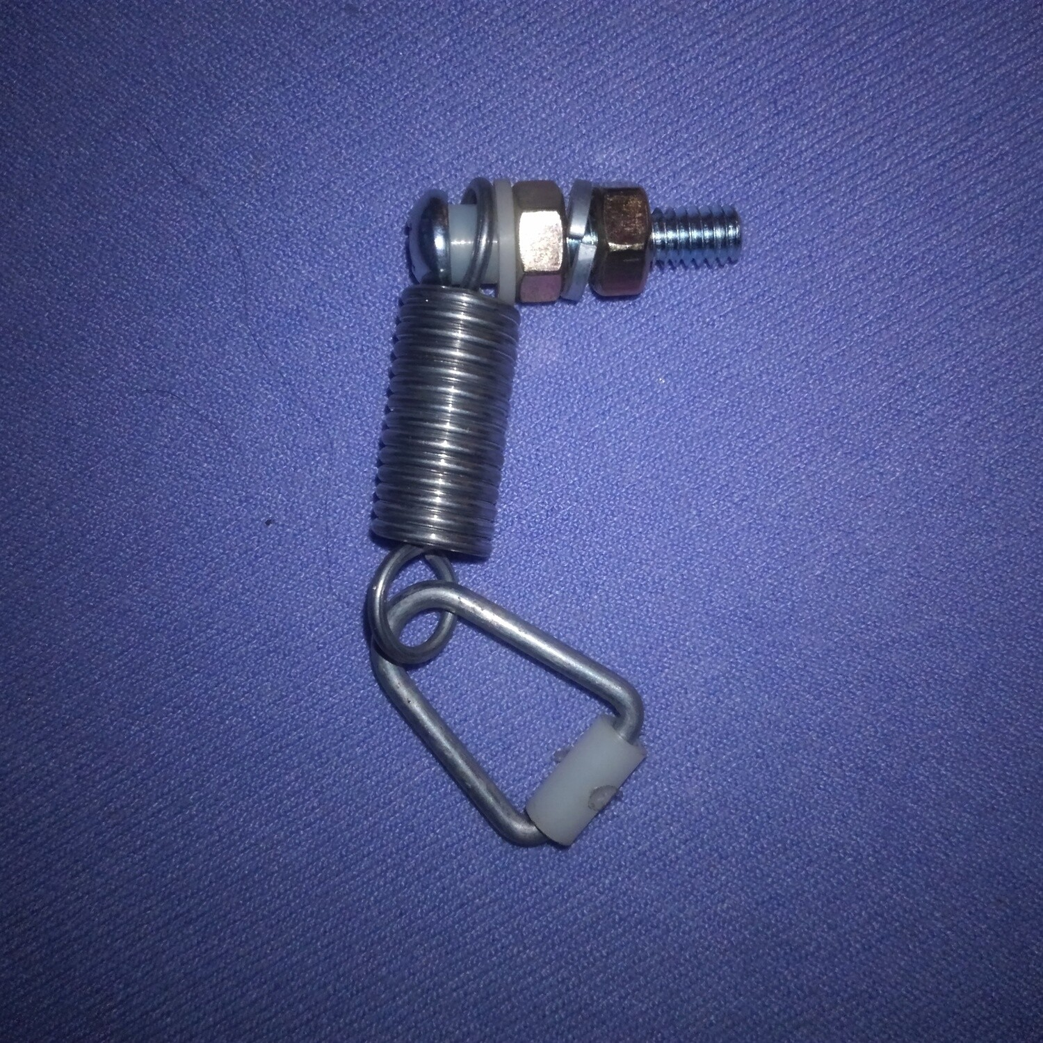 Throttle cable spring connector for RV