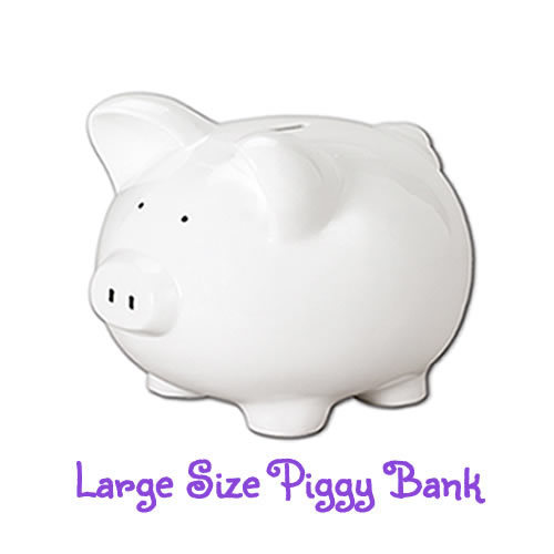 Large Hand-Painted Personalized Piggy Bank