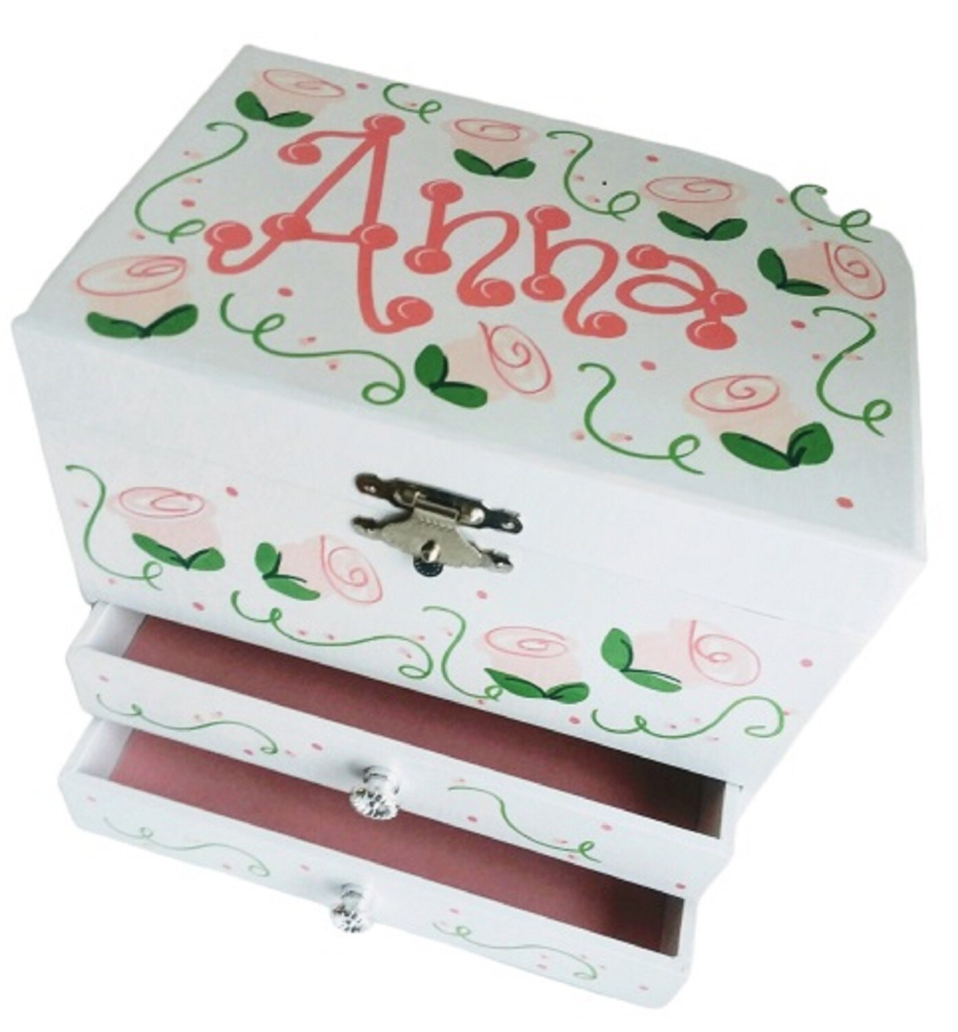 Personalized Deluxe Two Drawer Ballerina Musical Jewelry Box!