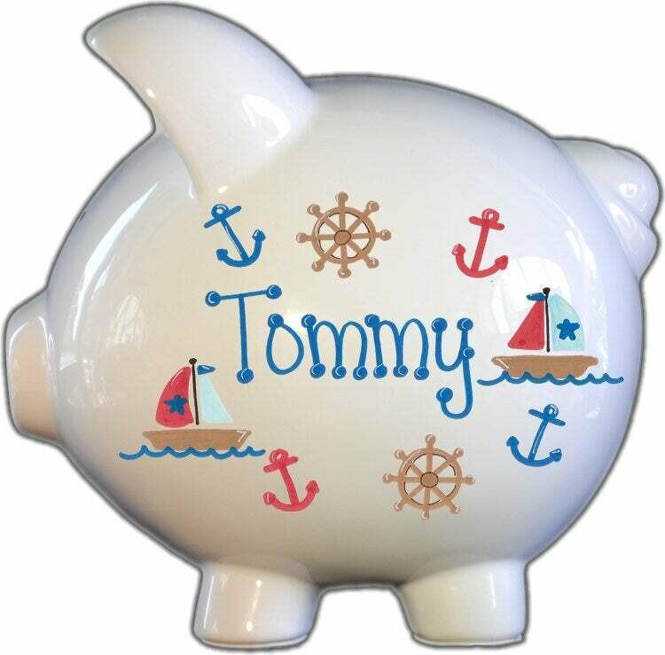 Sailboat Piggy Bank
