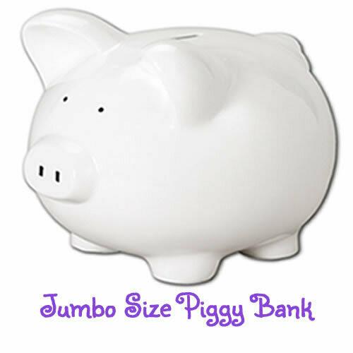 Jumbo Hand-Painted Personalized Piggy Bank