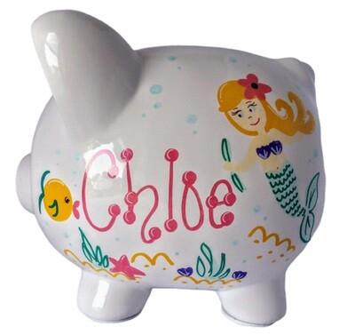 Mermaid Design Piggy Bank