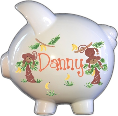 Monkey Design Piggy Bank