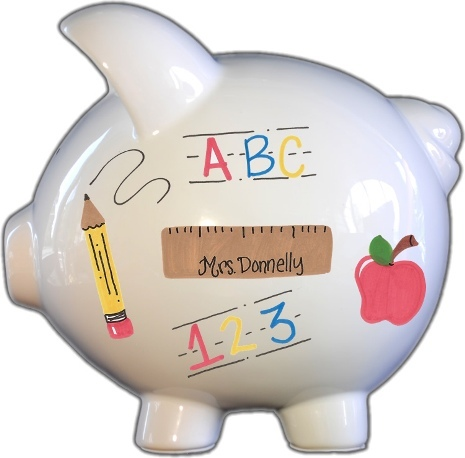 Teacher Design Piggy Bank