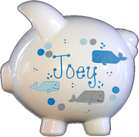 Whale's Design Piggy Bank
