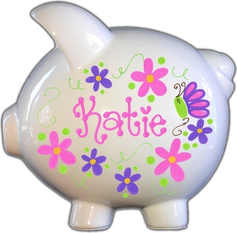 Flowers and Butterflies Hot Design Piggy Bank