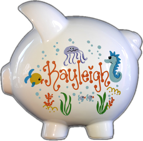 Under the Sea Design Piggy Bank