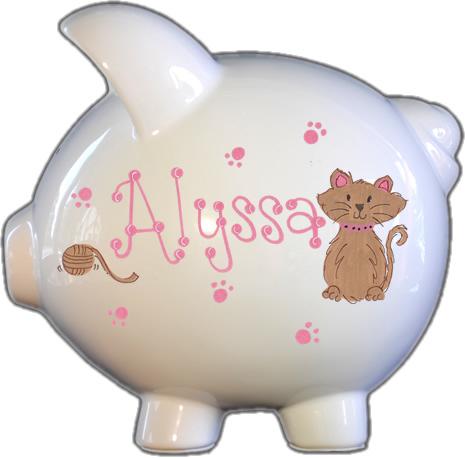 Kitty Kat Design Piggy Bank