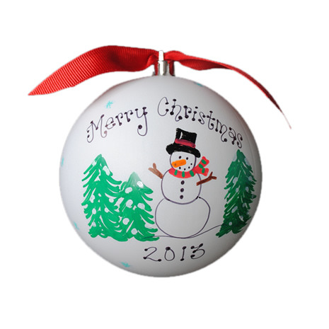 Hand-Painted Personalized Snowman Ornament