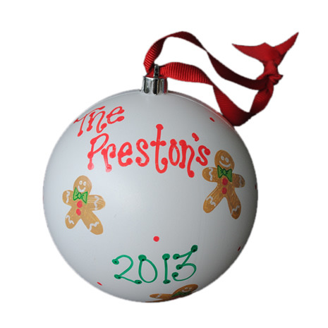 Hand-Painted Personalized Gingerbread Man Ornament
