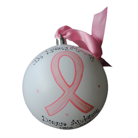 "Hand-Painted Personalized ""In Loving Memory"" Ornament"