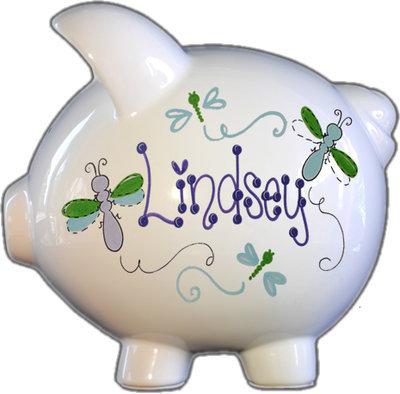 Dragonfly Design Piggy Bank