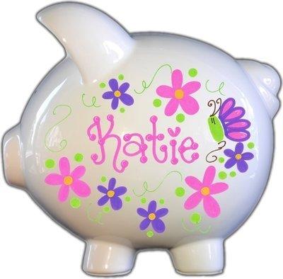 Flowers and Butterflies Hot Design Piggy Bank