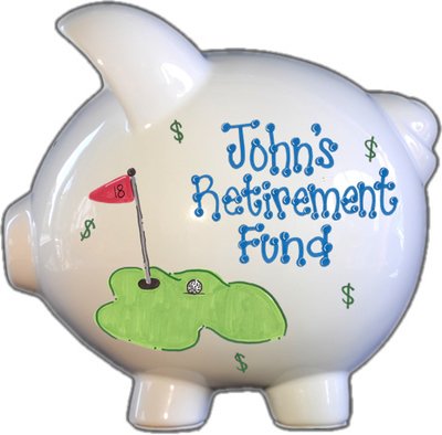 Retirement Fund Piggy Bank