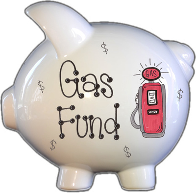 Gas Fund Piggy Bank