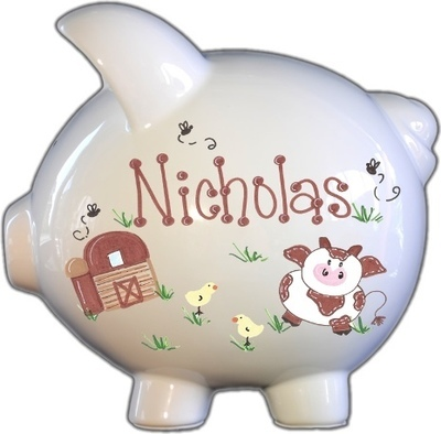 Barnyard Design Piggy Bank