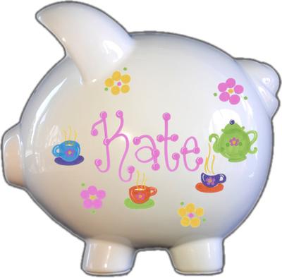 Totally Tea Design Piggy Bank