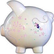 Unicorn Design  Personalized Piggy Bank