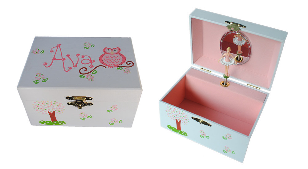 Personalized Children's Ballerina Musical Jewelry Box!