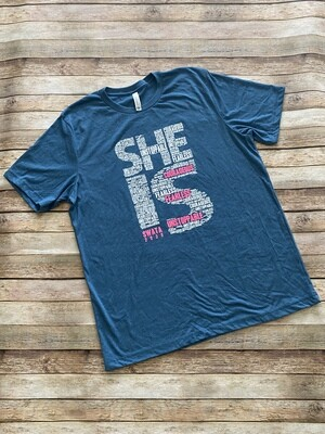 She Is SWATA T-Shirts (Teal Crew Neck)