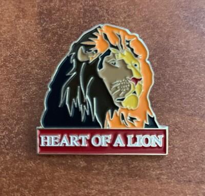 Heart of a Lion Enamel Pin