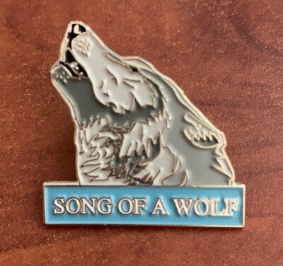 Song of a Wolf Enamel Pin
