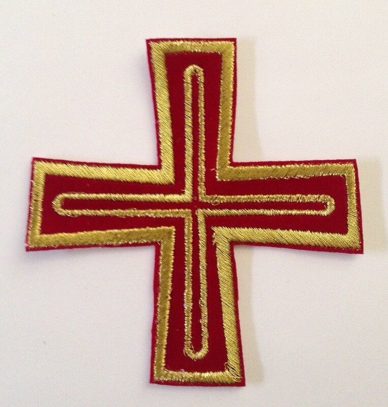 Stitches embroidery cross design on velvet size 4 inches and 6