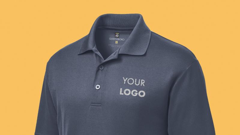 Custom Polo Shirt Text/Logo Printing Embroidery stitches Free Setup Free Shippin