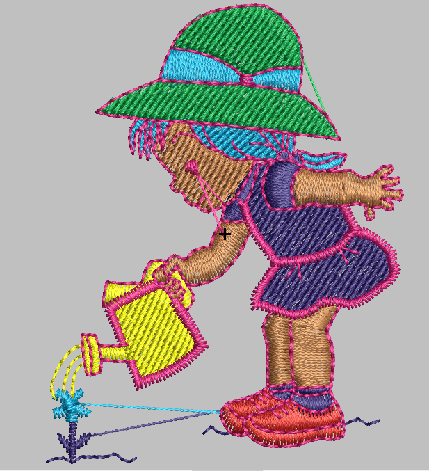 21 Files of girl embroidery digitize design all format