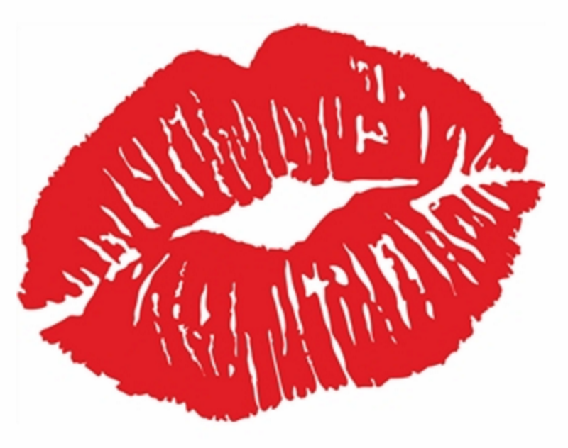 Heat transfer design to Print on fabric sexy lips design