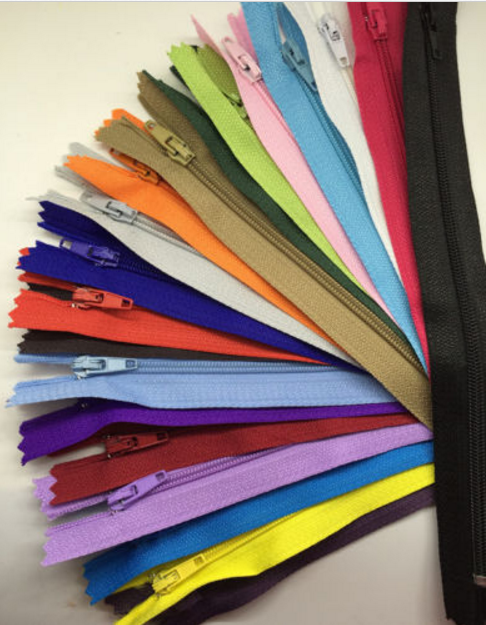 "100 Pieces of Mixing Zippers size of 6"" 8"" 10"" 12"" 14"" 16"" 20"" and Assorted Colors Nylon Coil End Closed # 3 (3 mm) for Tailor Sewing Craft and Alterations"